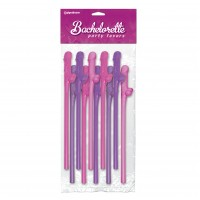 Bachelorette Party Favors 10 Pecker Straws Pink And Purple